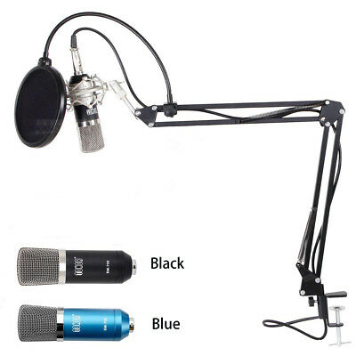 Professional 3-5mm Podcast Condenser Microphone PC Recording MIC with Boom Stand
