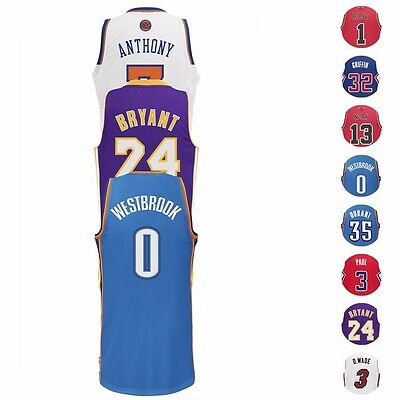 NBA Stars Revolution 30 Swingman Team Jersey Collection by Adidas - Mens