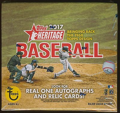 2017 Topps Heritage Baseball Trading Cards SEALED 24-Pack RETAIL BOX -