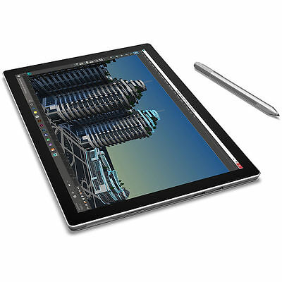 Microsoft 12-3 Surface Pro 4 128GB m3 Multi-Touch Tablet Silver - SU3-00001