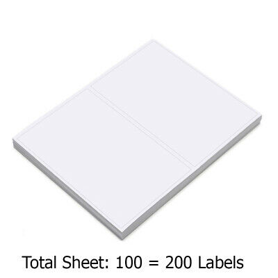 200 Premium Self Adhesive Shipping Labels 8-5x5-5 8-5x11 100 Sheets Sticky