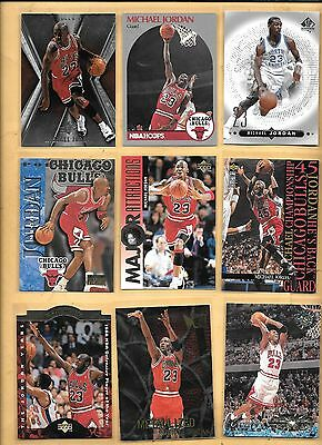 9 Michael Jordan Card Lot Fleer Metal Metallized Upper Deck SPx SP Authentic