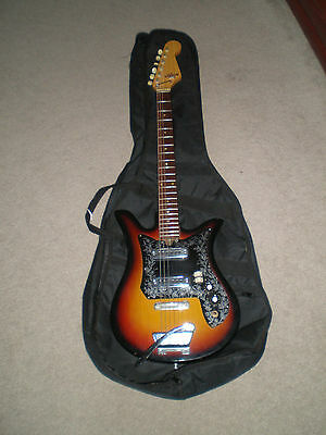 Vintage Teisco ET-200 Tulip 6 String Electric Guitar Beautiful - Original Works