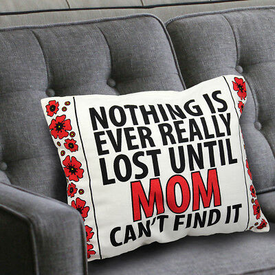 Best Mother's Day Gift for MOM Wife Decorative Throw Pillow - Cotton Cover Funny