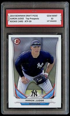 125 AARON JUDGE 2014 BOWMAN PROSPECTS Topps 1ST GRADED 10 ROOKIE CARD YANKEES