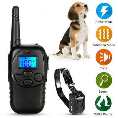 New Waterproof Training Collar Rechargeable Dog Trainer Electric Shock E-Collar