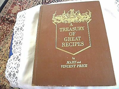 A Treasury Of Great Recipes by Mary and Vincent Price 1965