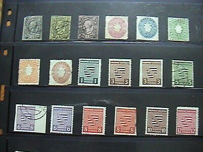 SAXONY - SELECTION OF MINT - USED STAMPS LITTLE DUPLICATION