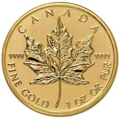 1 oz Canadian Gold Maple Leaf Coin -9999 Pure Varied Year