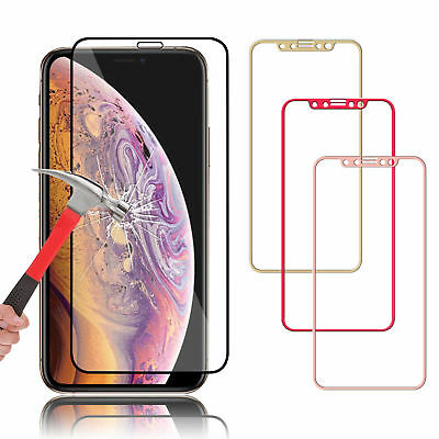 3D Curved Full Tempered Glass Coverage Film Protector For iPhone X 8 6 6s 7 Plus