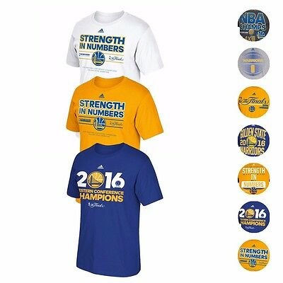 Golden State Warriors Adidas NBA Finals Championship Commemorative T-Shirt Mens