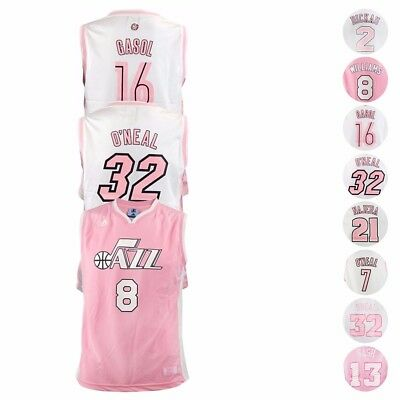 NBA Fashion Pink Adidas - Reebok Player Jersey Girls Toddler - Youth SZ S-XL