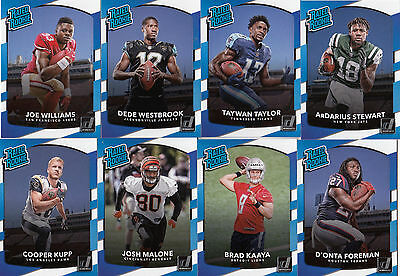 2017 Donruss Football RATED ROOKIE card lot