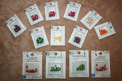 New Lot of Swarovski crystal beads Bicones 6mm assort- Colors Jewelry