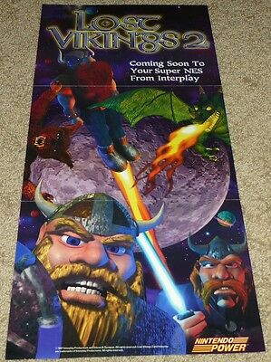 THE LOST VIKINGS 2 II POSTER - Super Nintendo SNES