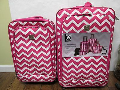 TRAVEL QUARTERS 2 PIECE LUGGAGE SET 24 AND 20 EXPANDABLE UPRIGHT NEW