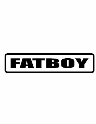 3 Fatboy Funny Hard hat decalstickers motorcycle helmets Toolbox