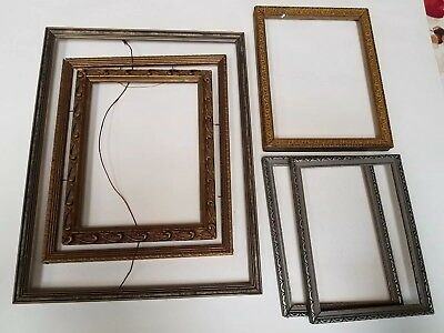 lot of 6 vintage  small wood picture frames