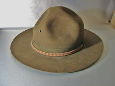 vintage ANTIQUE WWI DOUGHBOY HAT with RED - WHITE CORD 7-18