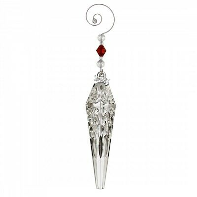2017 Waterford 4th Edition Crystal Icicle Christmas Tree Ornament Decoration New