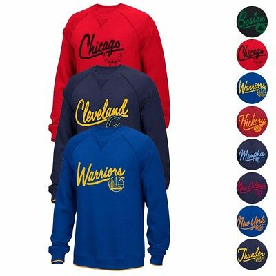 NBA Adidas Originals Classics Team Logo Fleece Crew Script Sweatshirt Mens