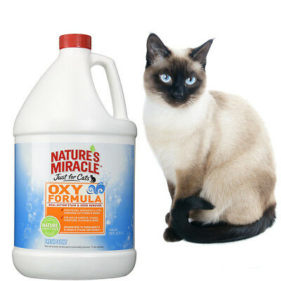 1 Gallon Natures Miracle Oxy Safe Natural Pet Pee Stain - Odor Remover Cats Dogs