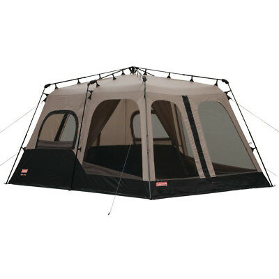 Coleman Large 8 Person 14 x 10 Weathertec Instant Set Up Outdoor Camping Tent