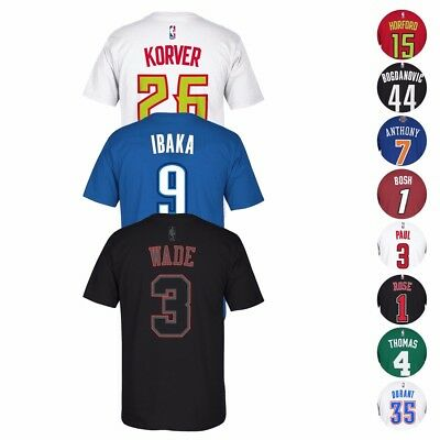 NBA Adidas Player Name - Number Team Jersey T-Shirt Collection Mens