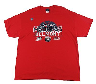 Blue 84 - March Madness Belmont Red T-Shirt - Sizes M XL 2XL - New w Defects