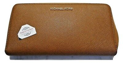 Michael Kors Jet Set Large Continental Clutch Organizer Travel Wallet Saffiano