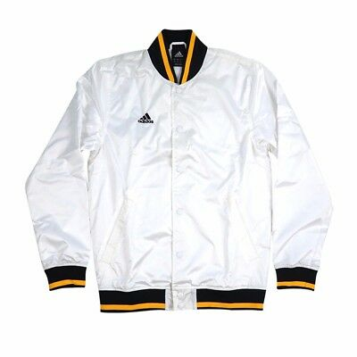 NBA Adidas Referee Officials Game Issued Full Button Down White Jacket Mens
