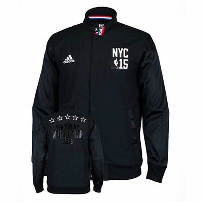 2015 Adidas NBA All Star Authentic On-Court Player Black Warm Up Jacket Mens