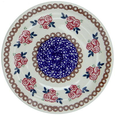 SilverrushStyle - Polish Pottery Dessert Plate - Roses Collection