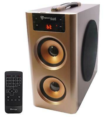 Rockville RHB70 Home Theater Compact Powered Speaker System w BluetoothUSBFM