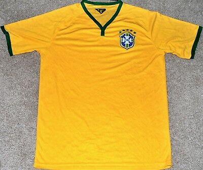 BRAZIL MENS SOCCER FUTBOL JERSEY FIFA WORLD CUP LARGE OR XL NEW TRIKOT READ AD