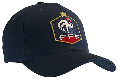 World Cup French Federation Football Cap Dark Blue Hat France FFF 100 Cotton