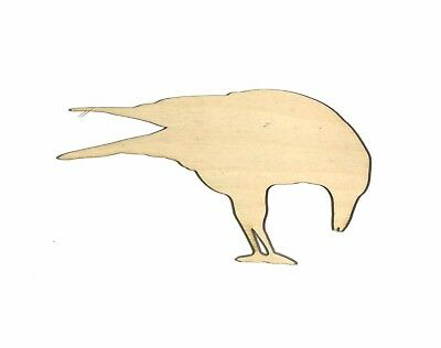 Crow Bird Unfinished Wood Shape Cut Out CB11009 Crafts Lindahl Woodcrafts