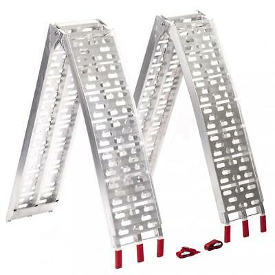 New 7-5 ft Aluminum ATV Truck Loading Ramps Arched Bi-Fold Ramps Pair D226