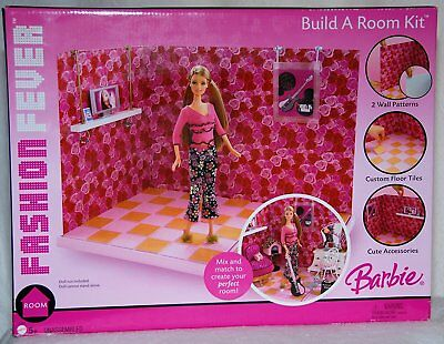 Barbie Fashion Fever Build a Room Kit 2 Room Looks - Endless Possibilities
