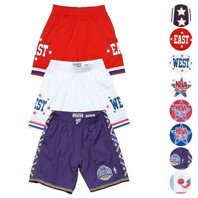NBA 1972-2004 All Star East West Retro Swingman Shorts Mens by Mitchell - Ness