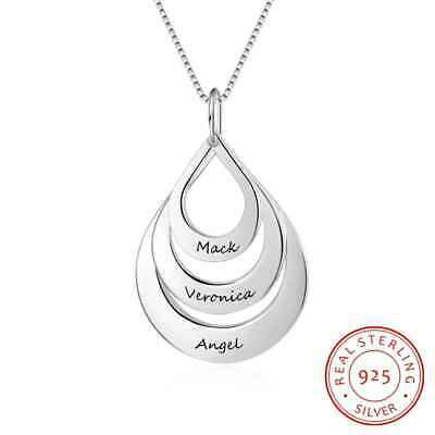 Personalized Family Name Necklace Mothers Day Gift 925 Sterling Silver Jewelry