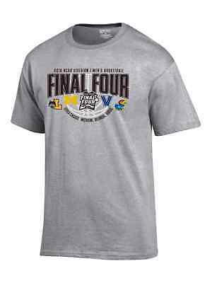 2018 NCAA Final Four Team Logos March Madness San Antonio Gray T-Shirt