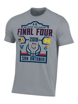 2018 NCAA Final Four Under Armour Team Logos March Madness Gray T-Shirt