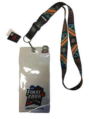2018 NCAA Final Four March Madness San Antonio Ticket Holder Lanyard - Pin Set