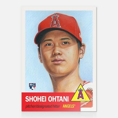 2018 Topps Now Living Card 7 SHOHEI OHTANI Angels ROOKIE RC Limited Print