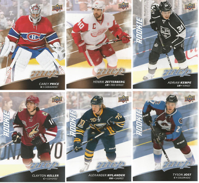 2017-18 Upper Deck MVP Hockey - Rookie and SP Cards - Choose Card s 201-250