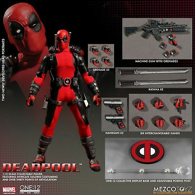 Mezco Toyz One12 Collective Deadpool Red Authentic