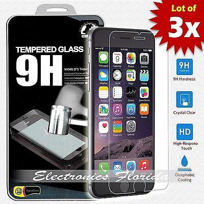 3 Pack for iPhone 8 Plus Tempered Glass Screen Protector A- Quality