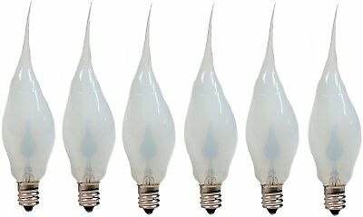 Silicone Dipped Flickering Flame Bulb Country Candle Lamp Style Pack of 6