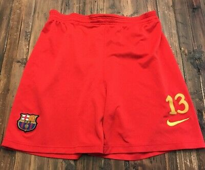 FC Barcelona Shorts 13 Nike Logo Large L Red